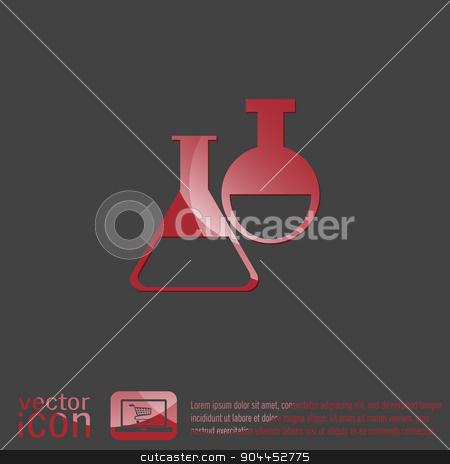 flask bulb medicine or chemistry stock vector clipart, flask bulb symbol chemistry. symbol icon of medicine or chemistry . the study of science by LittleCuckoo