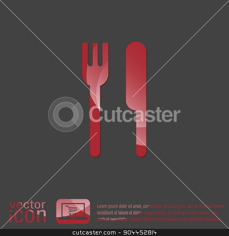 fork and knife. symbol lunch . cutlery stock vector clipart, fork and knife sign. symbol lunch . cutlery by LittleCuckoo