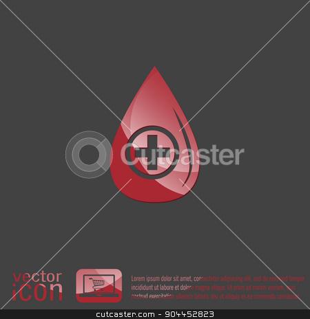 drop with a cross. medical symbol of liquid medicine . stock vector clipart, drop with a cross. medical symbol of liquid medicine . by LittleCuckoo