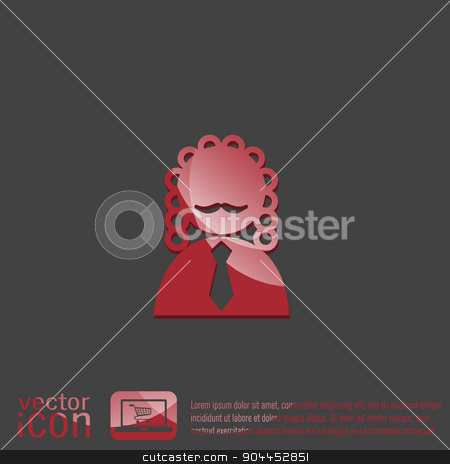 judge icon avatar. symbol of justice stock vector clipart, judge icon avatar. symbol of justice by LittleCuckoo