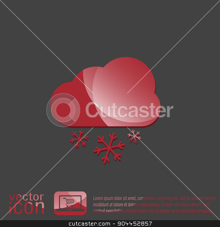 weather icon, cloud snow stock vector clipart, weather icon, cloud snow by LittleCuckoo