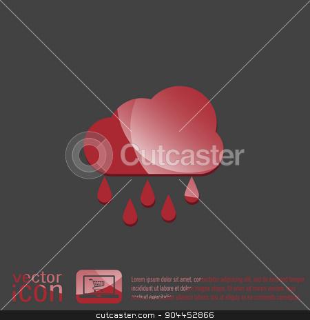 weather icon. cloud rain. stock vector clipart, weather icon. cloud rain. by LittleCuckoo