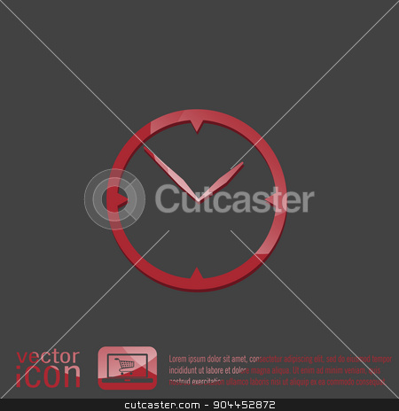 clock, Icon watch. symbol time stock vector clipart, clock. watch sign, Icon watch. symbol time by LittleCuckoo