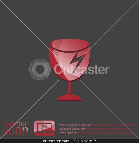 fragile glass symbol . logistics icon stock vector clipart, fragile glass icon. logistics symbol by LittleCuckoo