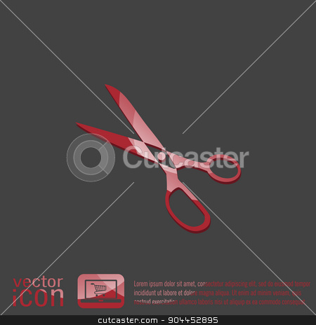 Icon scissors.  sewing and fashion. stock vector clipart, Icon scissors.  sewing and fashion. by LittleCuckoo