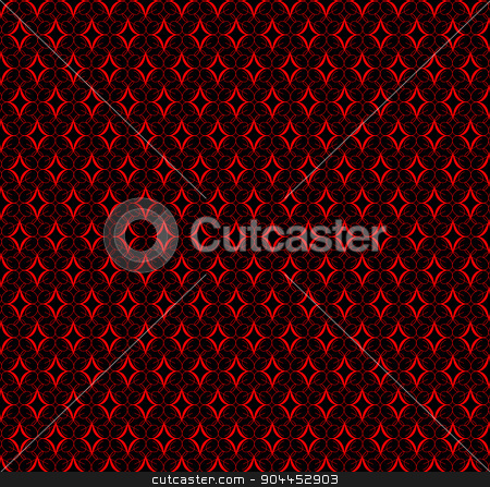 Red Pattern Background stock vector clipart, A red pattern background over a black backdrop by Kotto