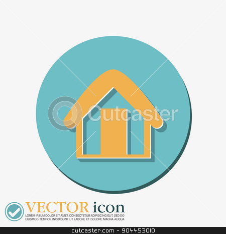House icon. Home sign stock vector clipart, House icon. Home sign by LittleCuckoo