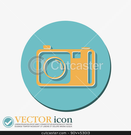 photo camera stock vector clipart, photo camera by LittleCuckoo