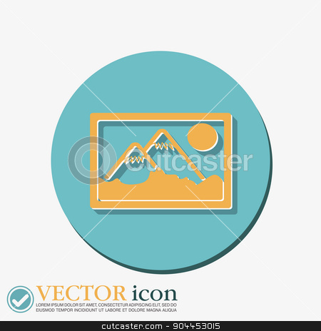 picture, image. stock vector clipart, picture, image icon. art sign by LittleCuckoo