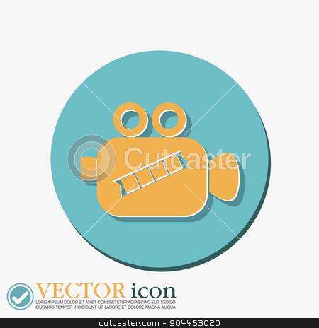 Video camera icon vector stock vector clipart, Video camera icon vector by LittleCuckoo