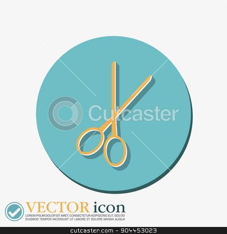 scissors.  barbershop stock vector clipart, scissors sign. barbershop. symbol of hair and beauty salon by LittleCuckoo