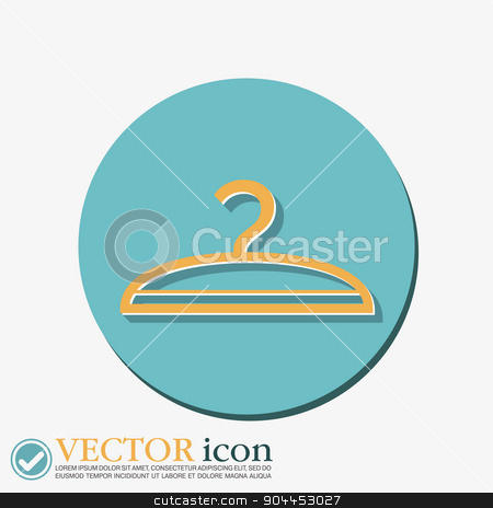 hanger. symbol and fashion icon hangers stock vector clipart, hanger sign. symbol and fashion icon hangers by LittleCuckoo