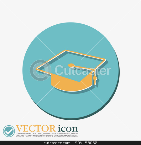 graduate hat. Education sign. stock vector clipart, graduate hat sign. Education sign. symbol icon college or institute. graduation by LittleCuckoo