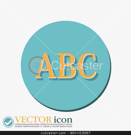 Letters of the alphabet. Icon learning. school symbol stock vector clipart, Letters of the alphabet. ABC. Icon learning. school symbol by LittleCuckoo