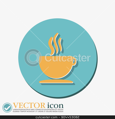 Cup of hot drink.  Icon cafe or diner. stock vector clipart, Coffee cup or tea symbol icon. Cup of hot drink sign. Symbol of hot drink . Icon cafe or diner. by LittleCuckoo