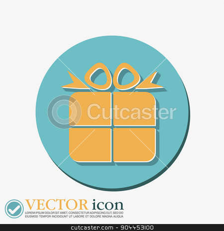 gift box icon with a bow. holiday or celebration stock vector clipart, gift box icon with a bow. holiday or celebration by LittleCuckoo