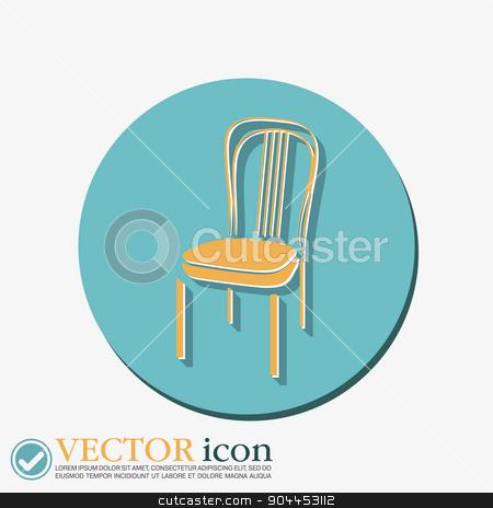 chair icon. symbol furniture. icon home interior stock vector clipart, chair icon. symbol furniture. icon home interior by LittleCuckoo