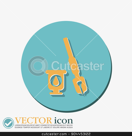 pen with ink icon  stock vector clipart, pen with ink icon  by LittleCuckoo