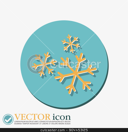 weather icon, snowflake sign stock vector clipart, weather icon, snowflake sign by LittleCuckoo
