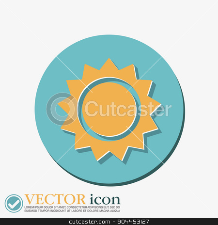 weather icon. sun stock vector clipart, weather icon. sun by LittleCuckoo