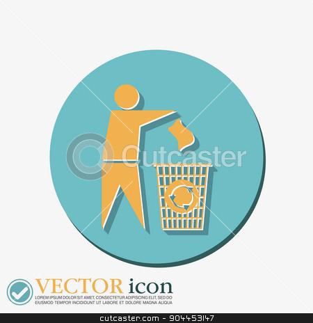 do not litter stock vector clipart, do not litter icon by LittleCuckoo