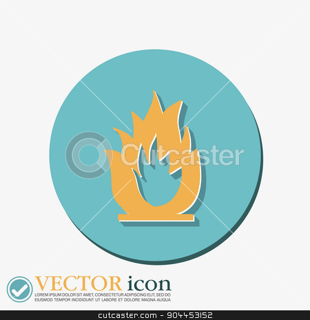 fire sign. stock vector clipart, fire sign. by LittleCuckoo