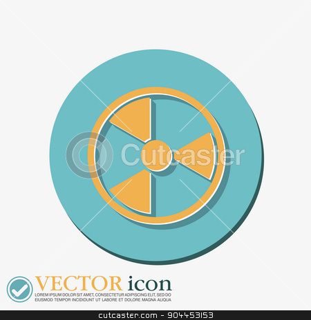 nuclear danger icon stock vector clipart, nuclear danger icon by LittleCuckoo