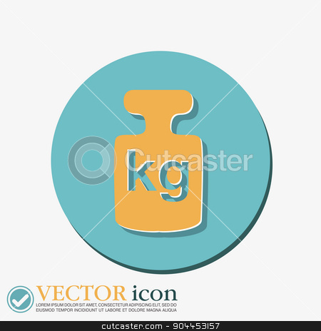 weight icon, symbol denoting a measure of weight stock vector clipart, weight icon, symbol denoting a measure of weight by LittleCuckoo
