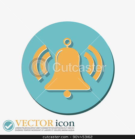 ring bell icon. Vector illustration EPS. stock vector clipart, ring bell icon. Vector illustration EPS. by LittleCuckoo