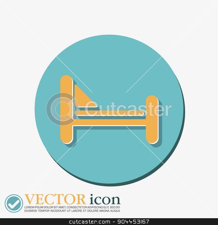 bed symbol sign. symbol or hotel stay. stock vector clipart, bed sign. symbol or hotel stay. by LittleCuckoo