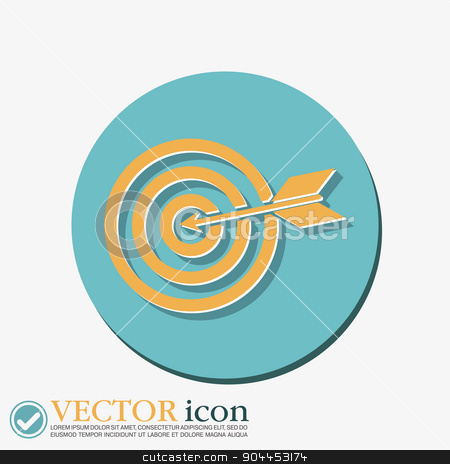 target symbol. sporty character. hit the target stock vector clipart, target symbol. sporty character. hit the target by LittleCuckoo