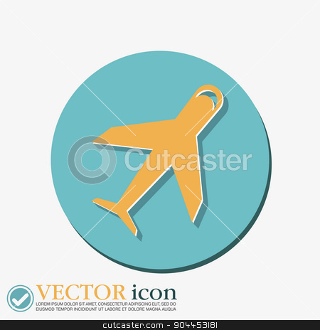 airplane symbol . icon of air travel stock vector clipart, airplane symbol . icon of air travel by LittleCuckoo