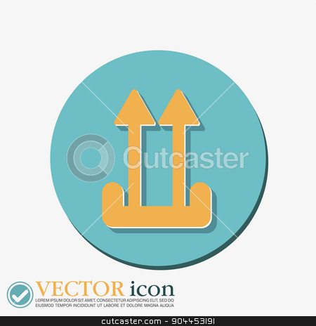 Fragile symbol, arrow up. logistic icon.  stock vector clipart, Fragile symbol, arrow up. logistic icon.  by LittleCuckoo