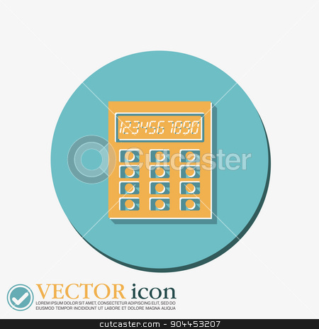 calculator stock vector clipart, calculator. office sign by LittleCuckoo