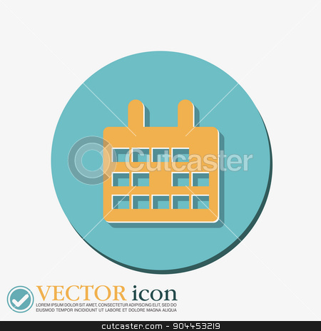calendar stock vector clipart, calendar sign by LittleCuckoo