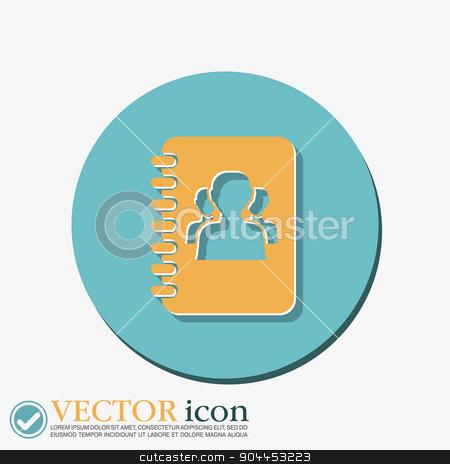 phone address book stock vector clipart, phone address book by LittleCuckoo