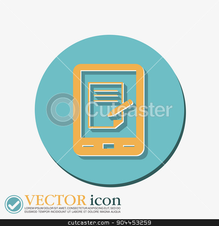 tablet pad with sheet of paper. stock vector clipart, tablet pad with sheet of paper. by LittleCuckoo