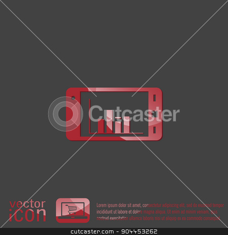 smartphone with diagram. stock vector clipart, smartphone with diagram. by LittleCuckoo