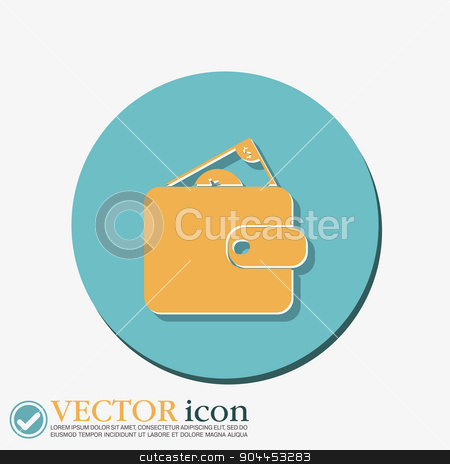 purse sign. symbol icon purse and dollar. money in your wallet stock vector clipart, purse sign. symbol icon purse and dollar. money in your wallet by LittleCuckoo