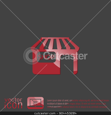 shop building. symbol icon store. shopping and entertainment. purchase. stock vector clipart, shop building sign. symbol icon store. shopping and entertainment. purchase. by LittleCuckoo