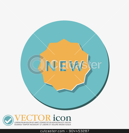 label new. symbol of the new icon . novelty stock vector clipart, label new sign symbol of the new icon . novelty by LittleCuckoo