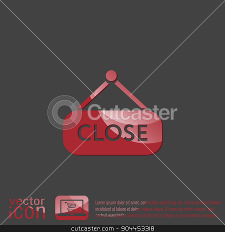 close label sign. symbol icon tablet closed stock vector clipart, close label sign. symbol icon tablet closed by LittleCuckoo