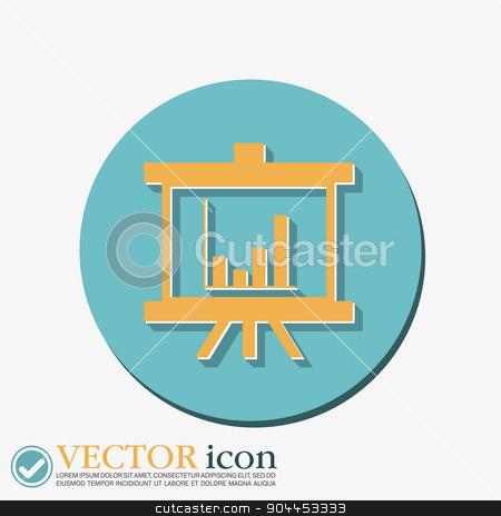 presentation graphics. Business icon stock vector clipart, presentation graphics. Business icon by LittleCuckoo