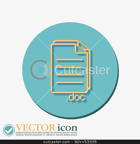 document icon paper sheet stock vector clipart, document icon paper sheet by LittleCuckoo