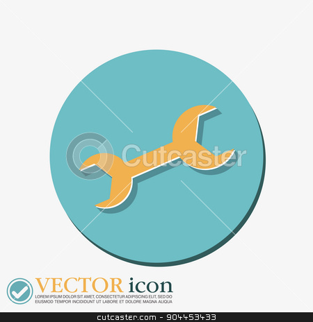 wrench, symbol settings.   stock vector clipart, wrench, symbol settings.   by LittleCuckoo