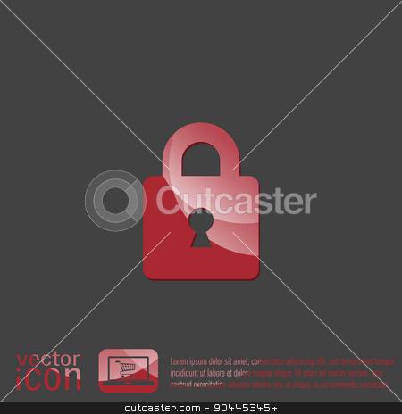padlock icon  stock vector clipart, padlock symbol icon by LittleCuckoo