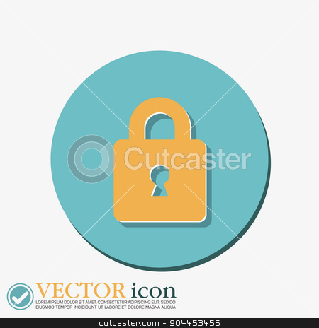 padlock icon  stock vector clipart, padlock symbol icon by LittleCuckoo