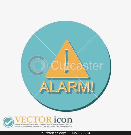 Exclamation Sign icon stock vector clipart, Exclamation Sign icon, alarm sign by LittleCuckoo