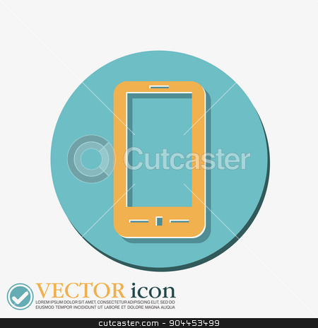 smartphone stock vector clipart, smartphone sign by LittleCuckoo