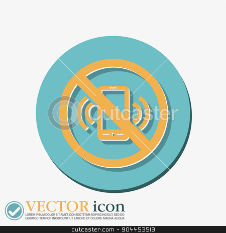 forbidden to use phone. forbidding symbol stock vector clipart, forbidden to use phone. forbidding symbol by LittleCuckoo